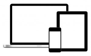 A picture displaying multiple screens to convey responsiveness design by Bucephalus Web Development to prospective users.